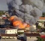 Brand uitgebroken in binnenstad Paramaribo