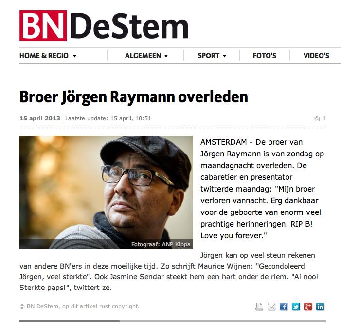 Verwarring na letterlijke vertaling Raymann's tweet