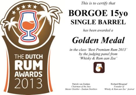 Borgoe rum boekt wederom internationaal succes