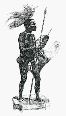 El negro de Banyoles, zoals afgebeeld in de catalogus van Francisco Darder in 1888