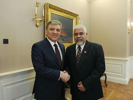 Vice-president Suriname ontmoet president Turkije