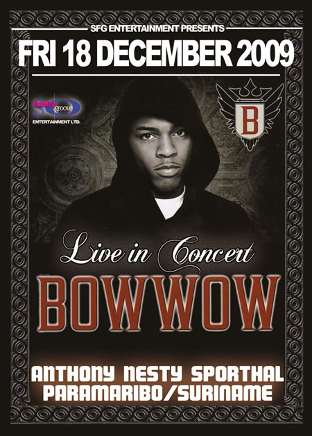 Amerikaanse rapper 'Bow Wow' naar Suriname