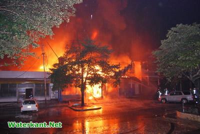 Brand in Surinaamse hoofdstad verwoest winkel