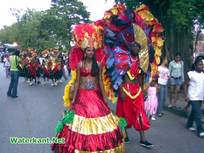Viering carnaval in Suriname