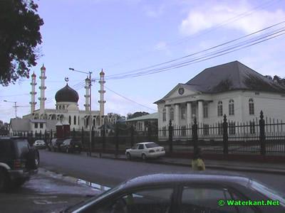 Foto van Moskee en Synagoge Keizerstraat Suriname