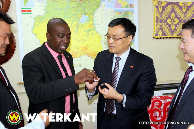 Delegatie uit Xianning (China) in Suriname