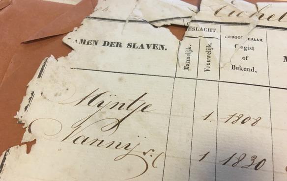 Genoeg geld gedoneerd voor digitalisering slavenregister