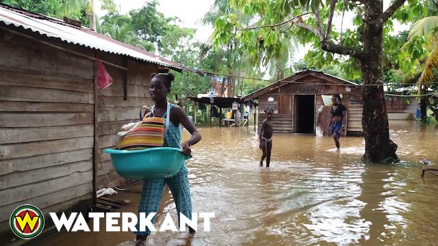 Wateroverlast dorpen in Beneden Marowijne gebied