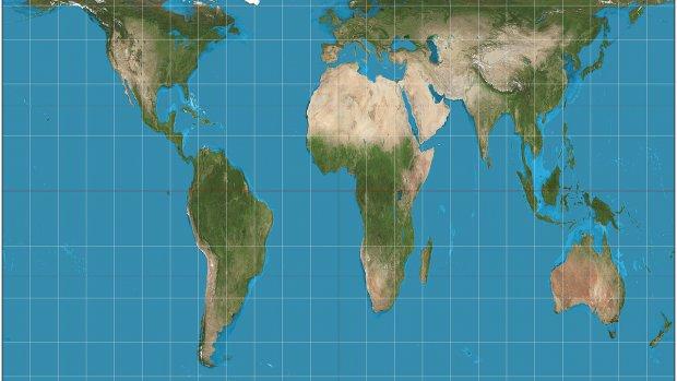 Scholieren VS gebruiken eerlijke wereldkaart