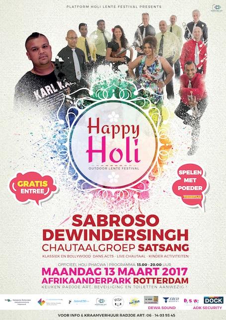 Happy Holi festival van het Platform Holi Lentefeest