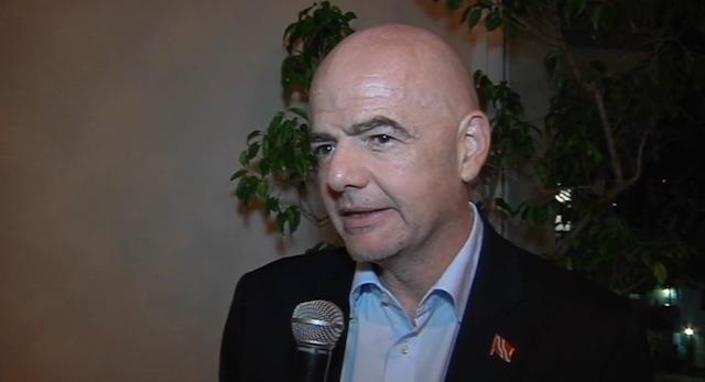 Voorzitter FIFA op bezoek in Suriname