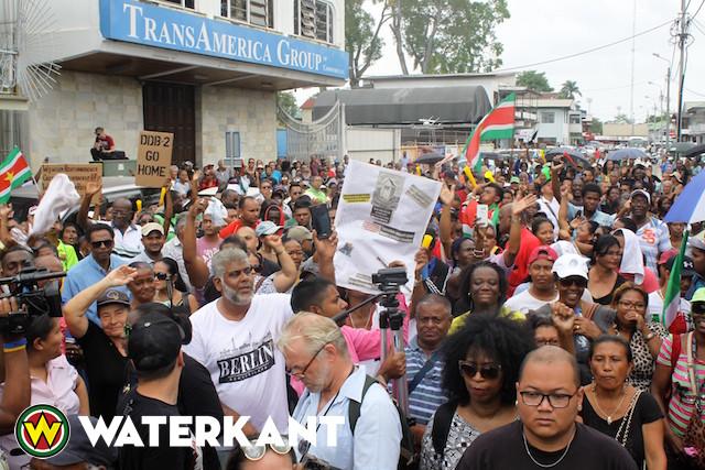 Protestacties in Suriname worden uitgebreid