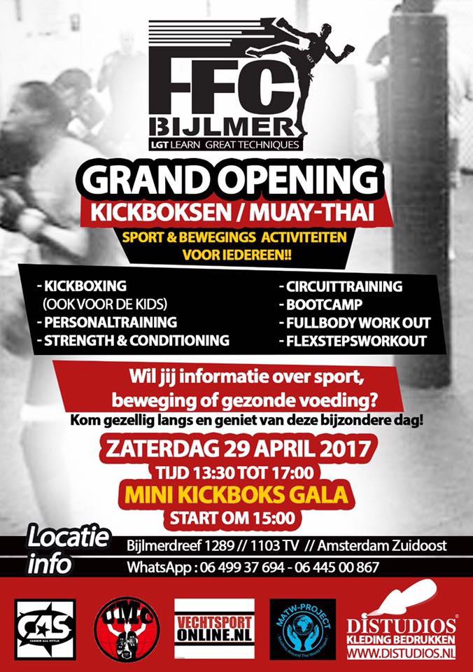 Grand opening FFC BIJLMER LGT GYM in A'dam Zuid-oost