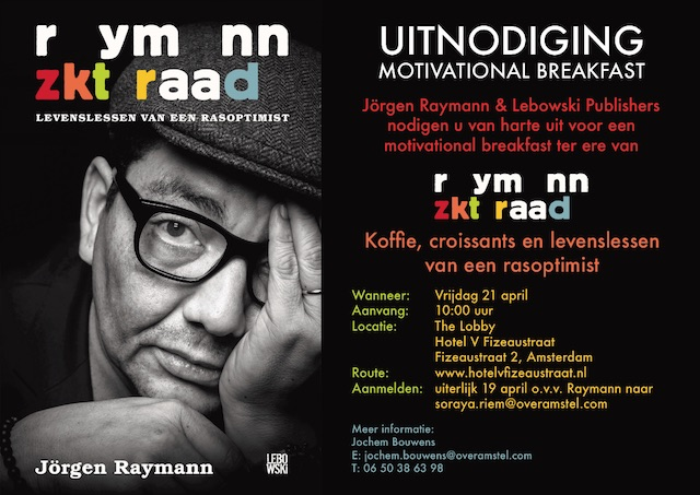 Motivational breakfast van Jörgen Raymann in A'dam
