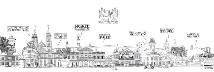 Nederlandse tekenaar tekent Paramaribo