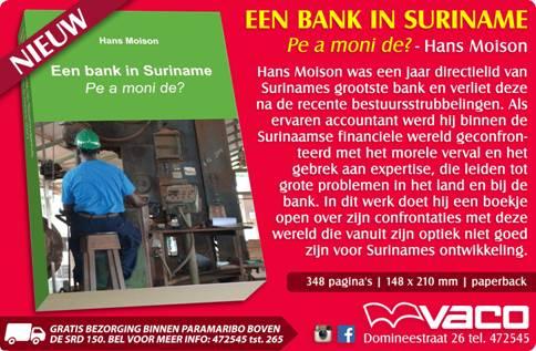 Nieuw boek 'Een bank in Suriname - Pe a moni de?'