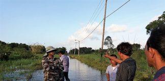 Wateroverlast door hevige regenval in Suriname