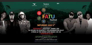 Fatu Festival op de Tennisbaan van Torarica Resort in Suriname