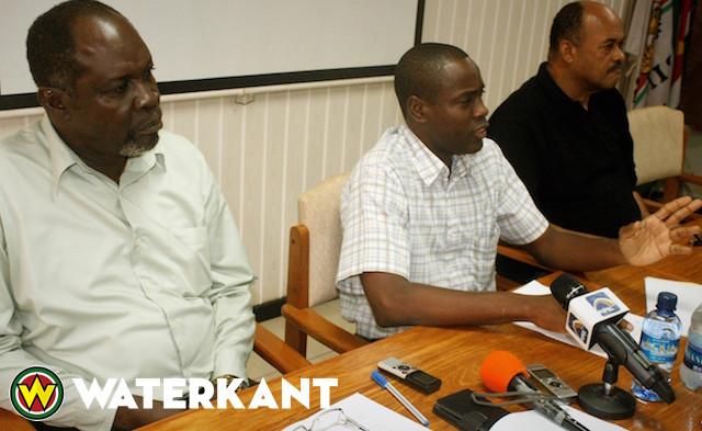 Persconferentie politie over moord en zelfmoord Suriname