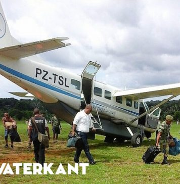 'Ongelukje' Blue Wing vliegtuig in Zuidwest Suriname