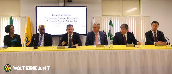 Staatsolie sluit contracten af voor offshore-blokken in Suriname