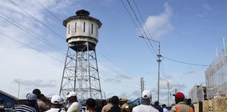 Actie bij Waterleiding Maatschappij in Suriname