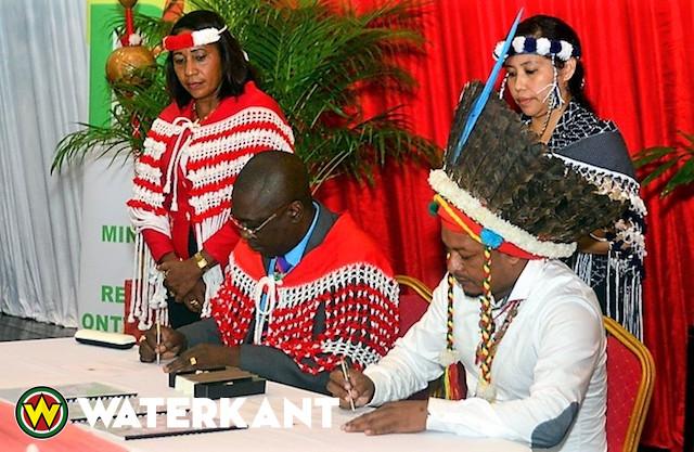 Ondertekening Gezamenlijke Verklaring Grondenrechten in Suriname