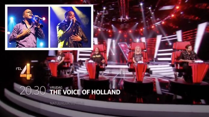 Bryan Muntslag en Lloyd de Meza in Voice of Holland