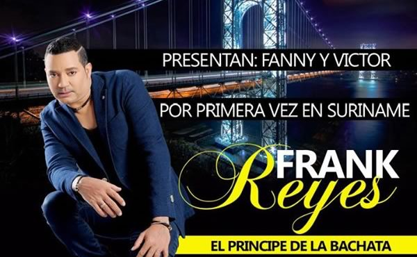 Bachata ster Frank Reyes geeft concert in Suriname