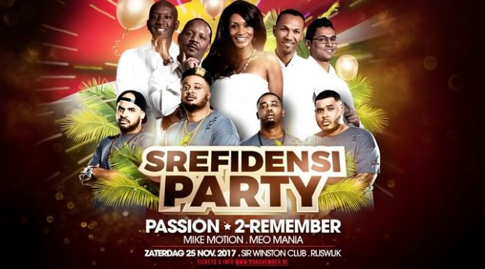 SREFIDENSI party Rijswijk met PASSION & 2-Remember
