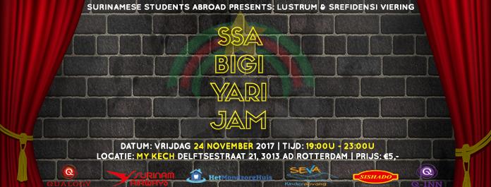 SSA viert 5-jarig bestaan met Bigi Yari Jam