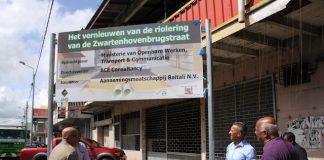 Vernieuwen riolering Zwartenhovenbrugstraat in Suriname
