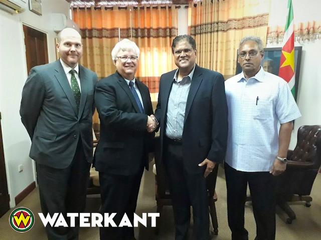 VHP-voorzitter ontvangt VS ambassadeur in Suriname