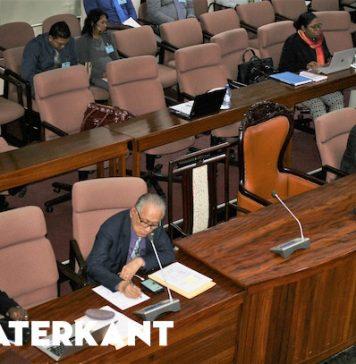 Leeg parlement bij begrotingsbehandeling