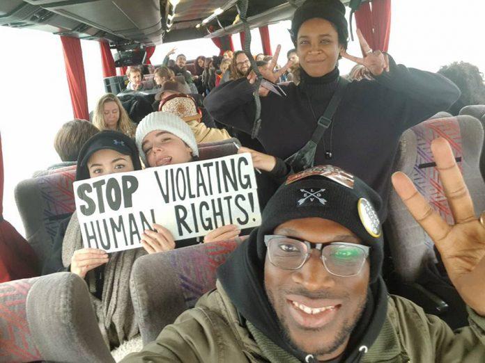 Manifestatie voor vrijheid van meningsuiting en demonstratierecht