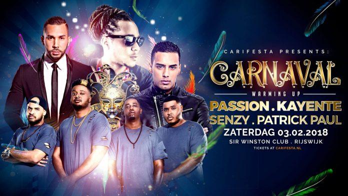 Carnaval Warming-up Party op zaterdag 3 februari 2018