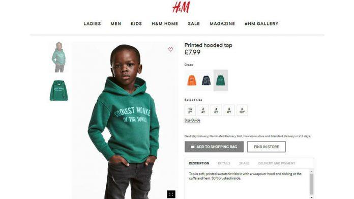 Rel om H&M advertentie met donker jongetje