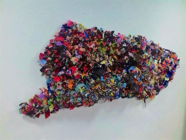 Dhiradj Ramsamoedj maakt kunstwerk voor Franse Ambassade
