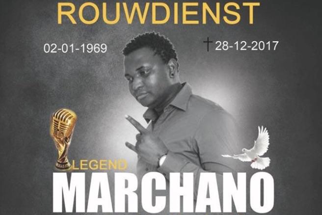 Rouwdienst voor overleden zanger Marchano Leyman