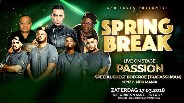 Spring Break Party zat 17 maart met Passion en Boegroe