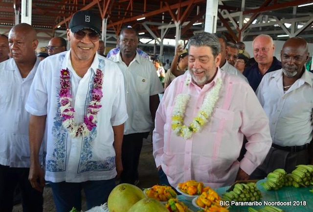 Premier St. Vincent and the Grenadines in Suriname