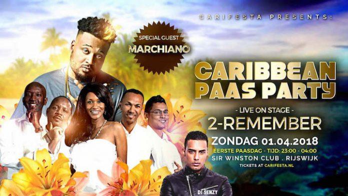 Marchiano special guest op Caribbean Paas Party in Rijswijk