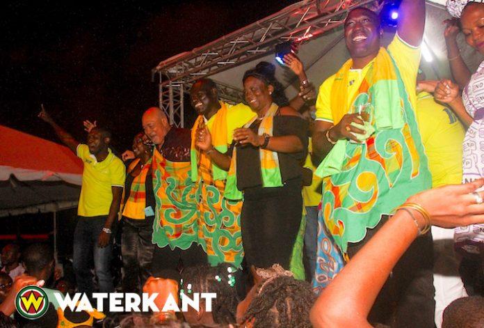 President Bouterse viert feest met jarige politieke partij BEP