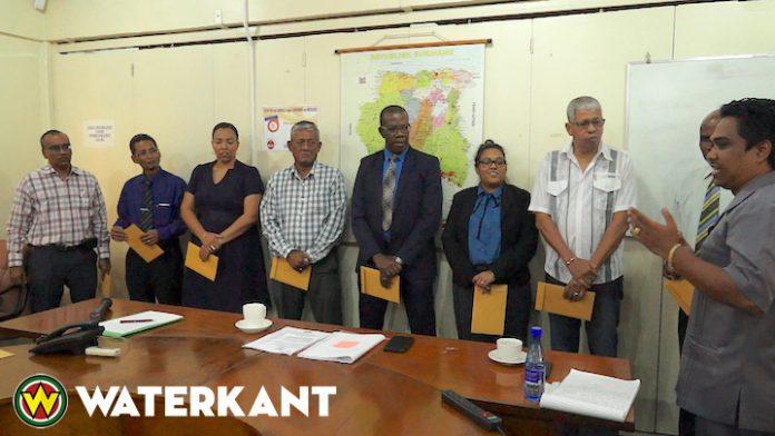 Installatie Gemengde Interdepartementale Adviescommissie in Suriname