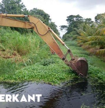 Foto's: Ontwateringswerkzaamheden in Suriname