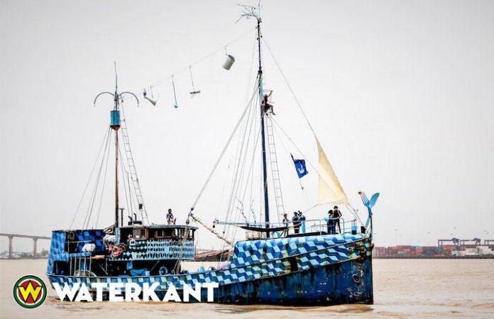 Nederlands Theaterschip op bezoek in Suriname