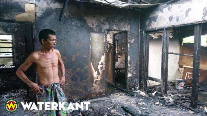 Bewoner op tijd gevlucht na brand in woning Suriname