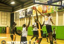 Nationale Basketbalselectie Suriname wint van Guyanees kampioen