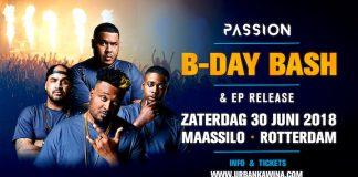 Passion B-day Bash & EP Release zaterdag 30 juni in Maassilo