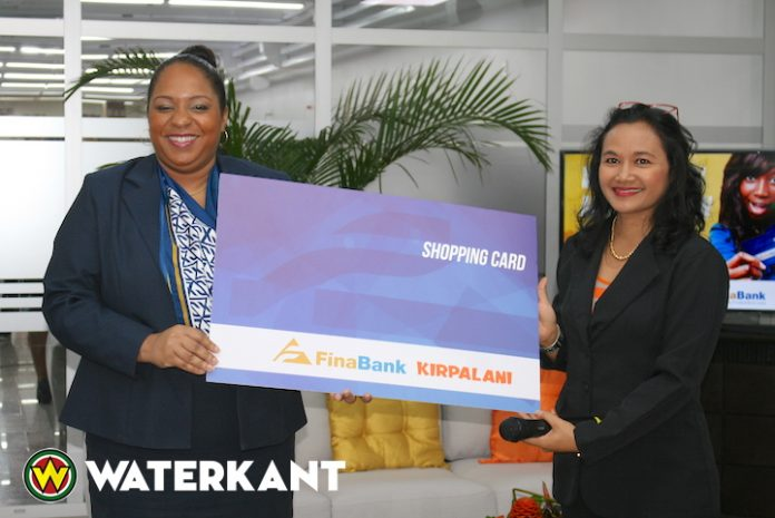 Introductie Shopping Card Finabank en Kirpalani in Suriname